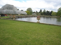 Växthuset och stora dammen.